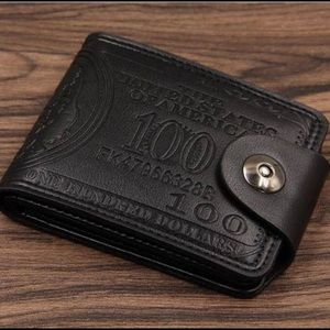 Men's Fashion Hundred Dollar Bill Leather Wallet